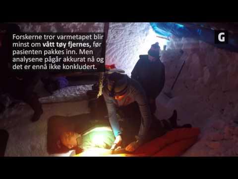 Hva er den beste akuttbehandlingen av alvorlig nedkjølte pasienter? Det skal teamet bak Mountainlab finne ut. Her fra forsøk i Hemsedal i år. Foto: Martin Vaksdal.