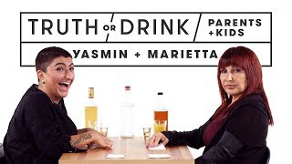 Parents & Kids Play Truth or Drink (Yasmin & Marietta) | Truth or Drink | Cut