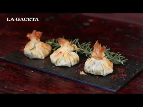 Paquetitos de masa philo relleno de humita, queso criollo y aceitunas negras - Capítulo 6