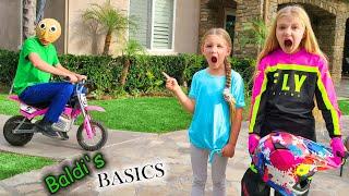 Baldi Steals My Motorcycle!!! Baldi's Basics in Real Life Chase!