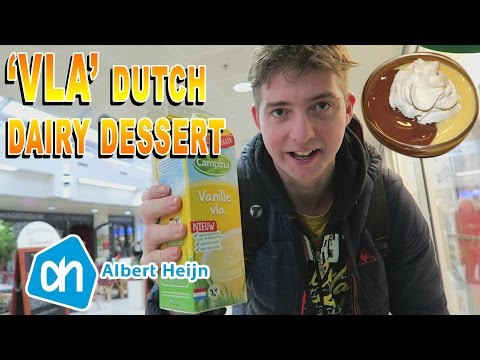 'VLA' Dutch dairy dessert Review from Albert Heijn supermarket in the Netherlands