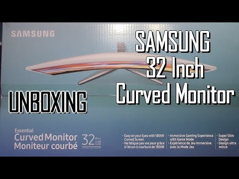 SAMSUNG CF397 32 Inch Curved Monitor Unboxing Walmart Black Friday Deal