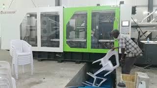 plastic chair molding line run in customer factory