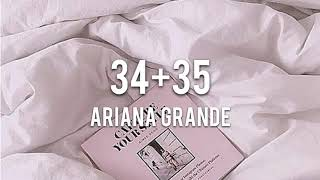 【Lyrics 和訳】34+35 - Ariana Grande