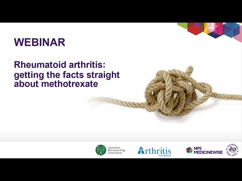 WEBINAR – Rheumatoid arthritis: getting the facts straight about methotrexate