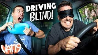 Don't Hit the Tesla! Parallel Parking BLINDFOLDED. 😱