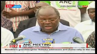 ANC leaders express their view on the announcement of Raila Odinga as NASA flag bearer
