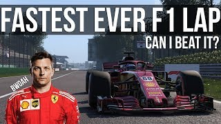 Trying To Beat The Fastest Lap In Formula 1 History