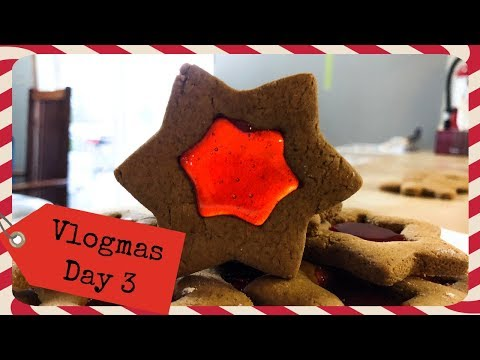 Stained Glass Gingerbread Cookies | Vlogmas Day 3