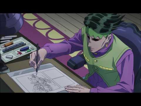 [JJBA-Diamond is Unbreakable - Rohan Drawing Technique (HD) (spoiler alert!)