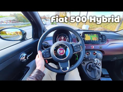New Fiat 500 Hybrid 2021 Test Drive Review POV