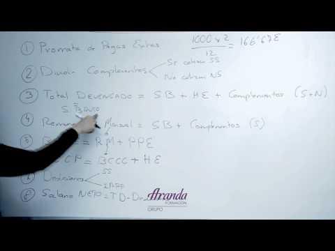 Como calcular nóminas