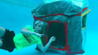 UNDERWATER BOX FORT!!