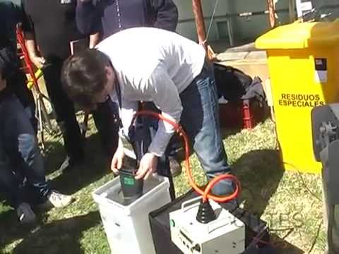 Prueba de pértigas, guantes, mangas, mantas y soga en campo - 13,2 kV. (Trabajos con Tensión)