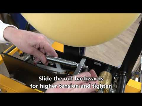 CT 103 SD: Adjust tape head spring tension