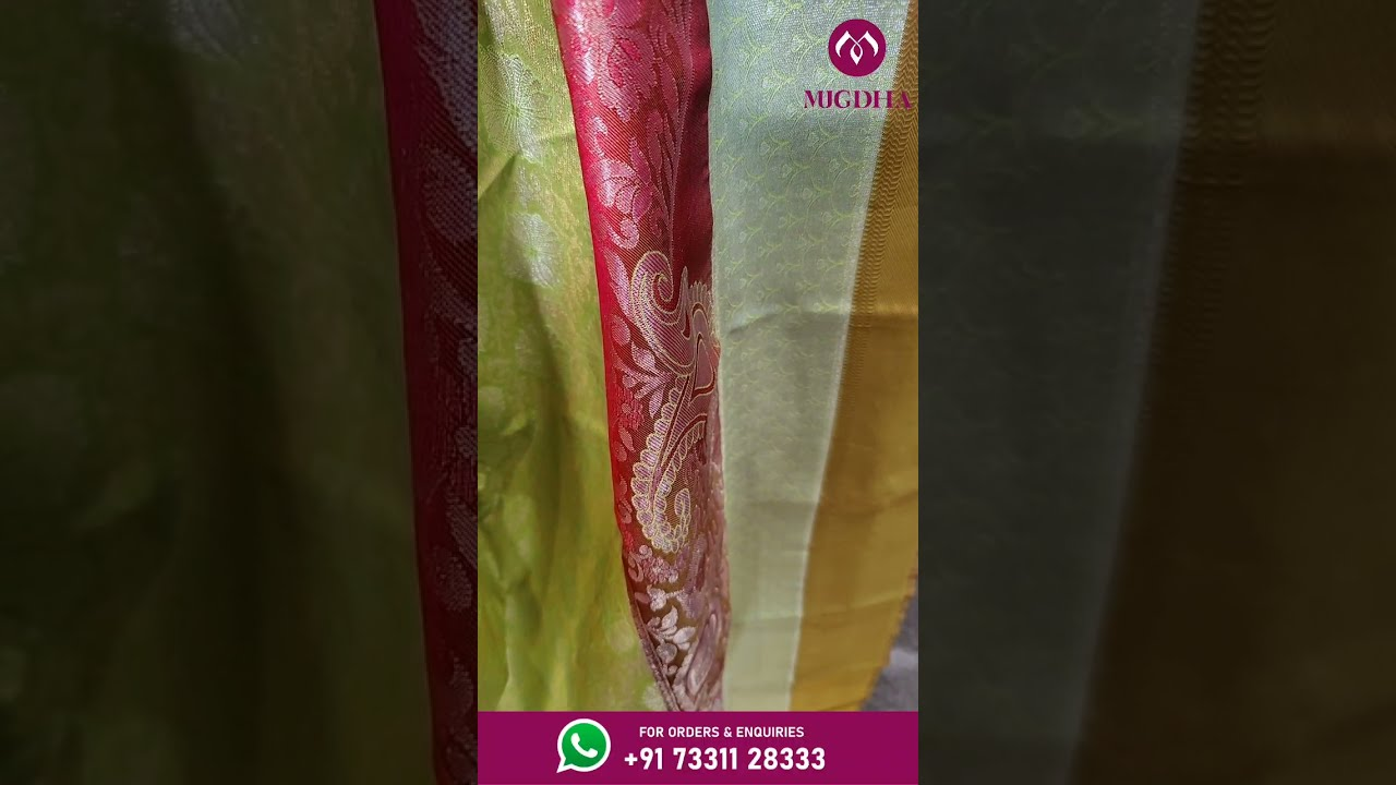 """<p style=""""color: red"""">Video : </p>BEAUTIFUL BROCADE PATTU SAREES FROM MUGDHA FOR ORDERS 7331128333 2021-08-04"""