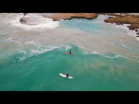 Drone footage of surfers at Point Roadknight