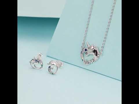 Bamoer Unicorn Jewelry Set