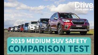 Safest SUV You Can Buy In 2019, Medium SUV Mega Comparison Test | Drive.com.au
