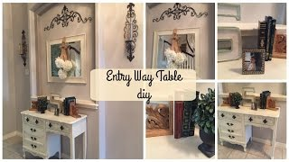 ENTRY WAY TABLE DIY   French Country Style
