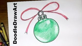 drawing how to draw a christmas tree ornament easy drawing lesson for beginners or