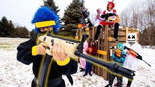 NERF FORTNITE | Ninja in Real Life!