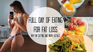 What I Eat In A Day For Fat Loss | Full Day Of Eating | Simple | Cutting w/o Tracking Macros Ep.1