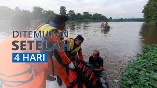 Jasad Ibu Rumah Tangga Tenggelam, Ditemukan setelah 4 Hari Lakukan Pencarian