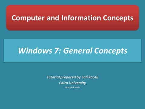 Windows 7 Tutorial: Getting Started with Windows 7 - YouTube