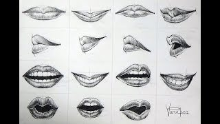 Lips Expression Drawing