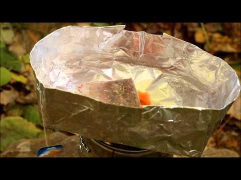 Survival Mini - Kochtopf aus Alufolie