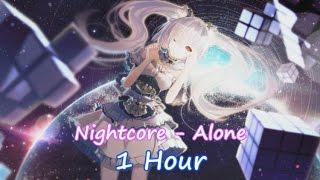 Nightcore - Alone (Alan Walker) || 1 Hour || Lyrics