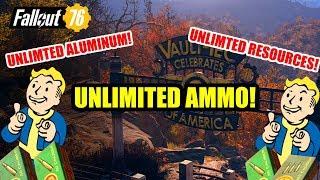 *FALLOUT 76 UNLIMITED AMMO FARM* How to farm ammo & aluminum on Fallout 76 HACK!