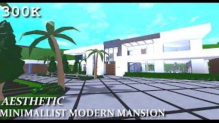 Aesthetic Minimalist Modern Mansion | Exterior/Interior | 300K | Bloxburg Speedbuild |