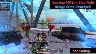 [Hindi] PUBG Mobile   Amazing Military base Fight & Bridge Camp Destroyed Sad Ending