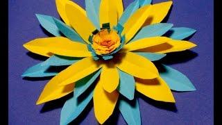 Украшения из бумаги,Handmade,Цветок  из  бумаги  . flower.ქაღალდის ყვავილი.
