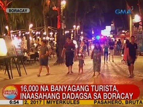 UB: 16,000 na banyagang turista, inaasahang dadagsa sa Boracay