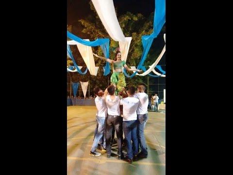 Apresentação de encerramento da campanha de Combate a Dengue em Agricolândia