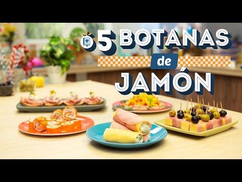 ¿Cómo preparar 5 Botanas de Jamón? - Cocina Fresca