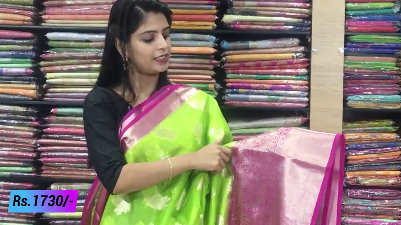 "<p style=""color: red"">Video : </p>Organza Sarees Collections in Low Price 