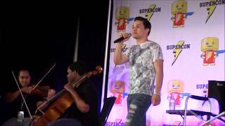 Florida Supercon 2017 - Zach Callison singing Giant Woman/Both of You ft. Somnio Strings
