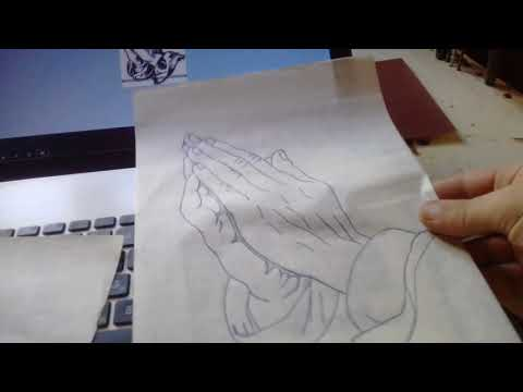 Как быстро нарисовать рисунок под резьбу.How to quickly draw a thread pattern.