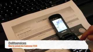 How to Unlock Samsung T259 - T-mobile, Telus, Bell, AT&T, Rogers, Vodafone, Orange, O2