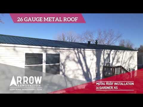 Metal Roof (26 Gauge) Installation in Gardner, KS