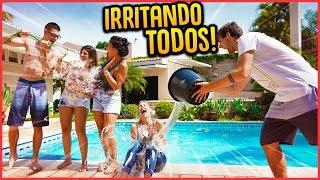 COMO IRRITAR TODOS DA CASA 24H!! - TROLLANDO AMIGOS [ REZENDE EVIL ]