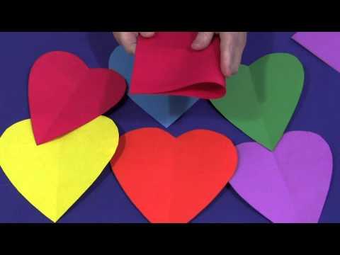 Screenshot of video: Hearts- scissor skills
