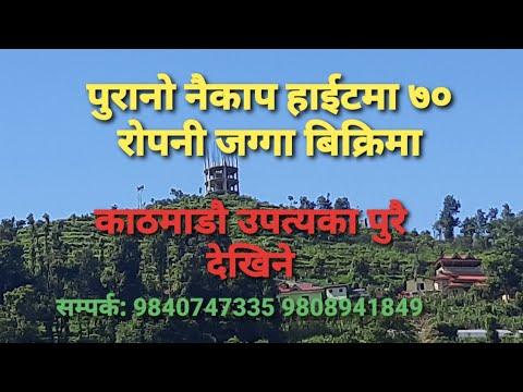 |पुरानो नैकाप हाईटमा ७० रोपनी जग्गा बिकृमा|70 ropani land for sale at purano naikap height|