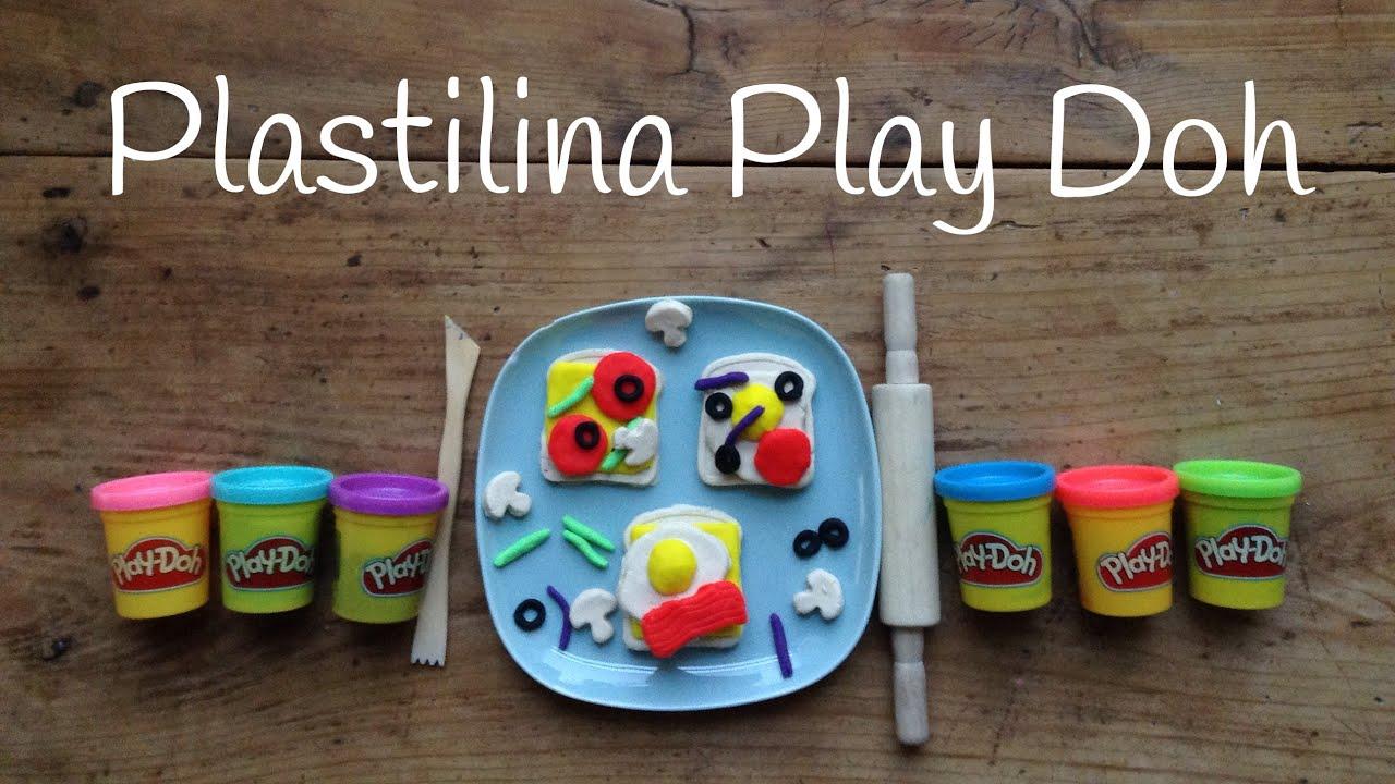 Play Doh SANDWICH   Figuras de PLASTILINA para niños