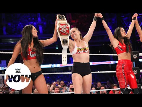 Download Ronda Rousey decimates all of The Riott Squad: WWE Super Show-Down 2018 (WWE Network Exclusive) HD Mp4 3GP Video and MP3