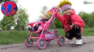 Кукла Беби Борн и Ярослава на прогулке. Киндер Сюрприз. Раскраска-Невидимка для детей